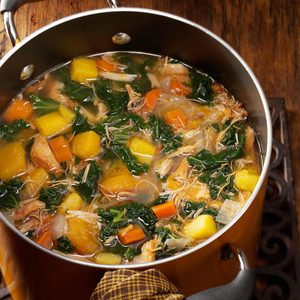 Colorful Chicken 'n' Squash Soup