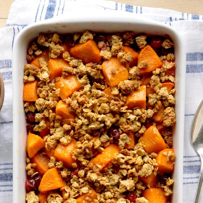 Colorful Cranberry Sweet Potato Bake