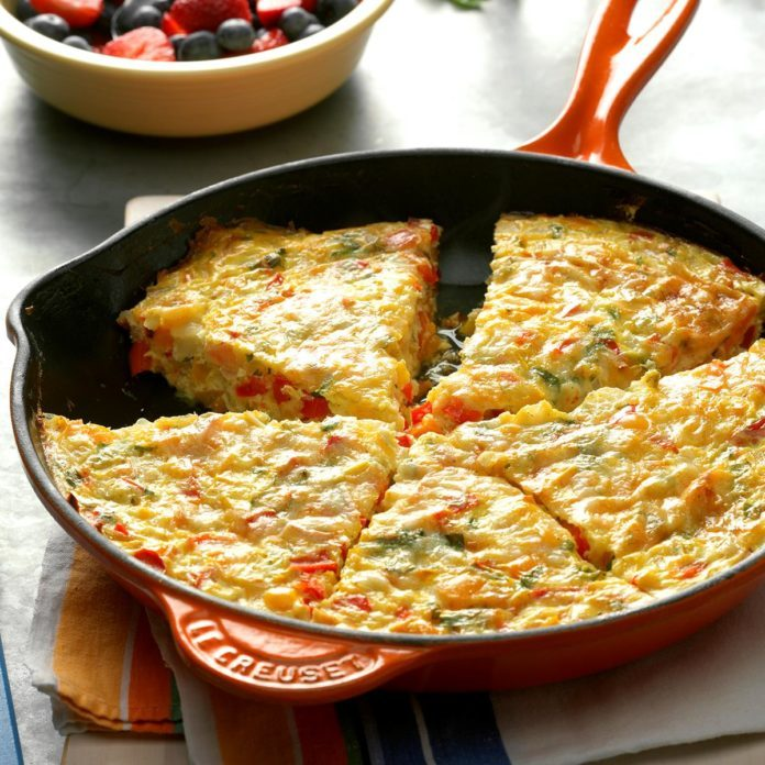 Day 4 Breakfast: Colorful Pepper Frittata