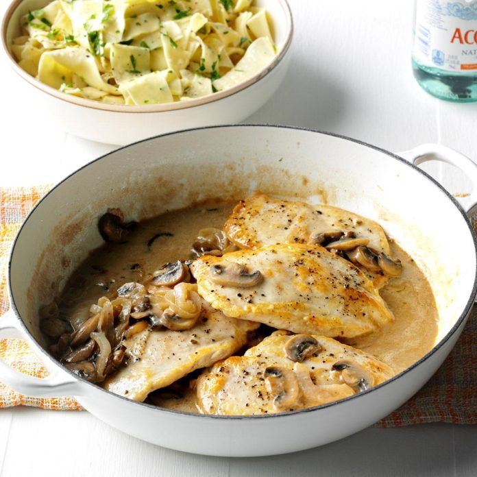 Contest-Winning Chicken with Mushroom Sauce