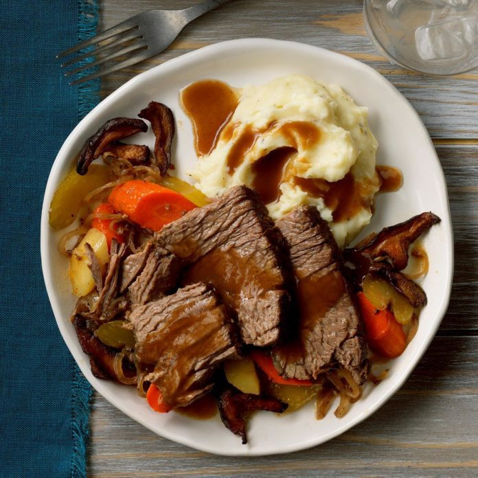 Contest Winning Mushroom Pot Roast Recipe Taste Of Home