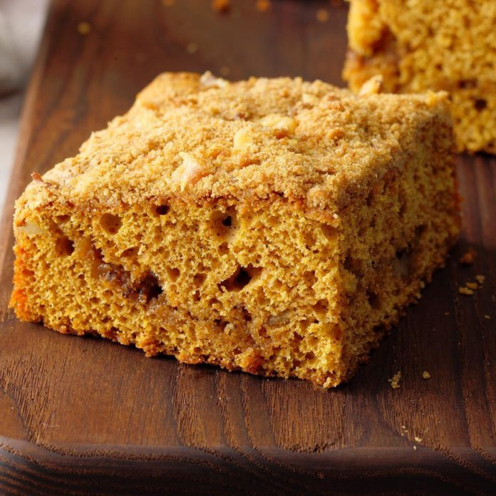 Contest-Winning Pumpkin Coffee Cake