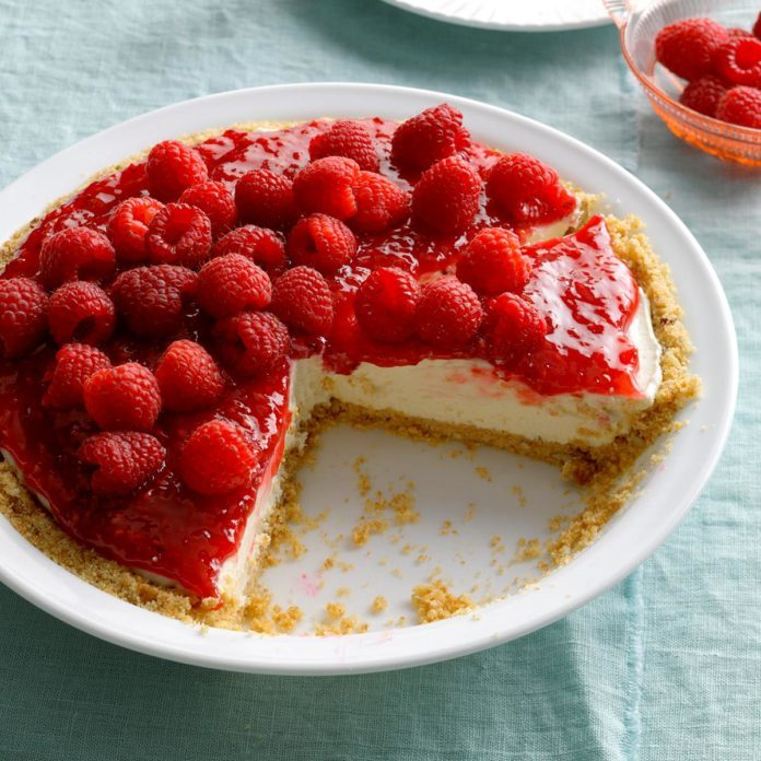 Contest-Winning Raspberry Cream Pie