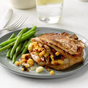 Cornbread Stuffed Pork Chops