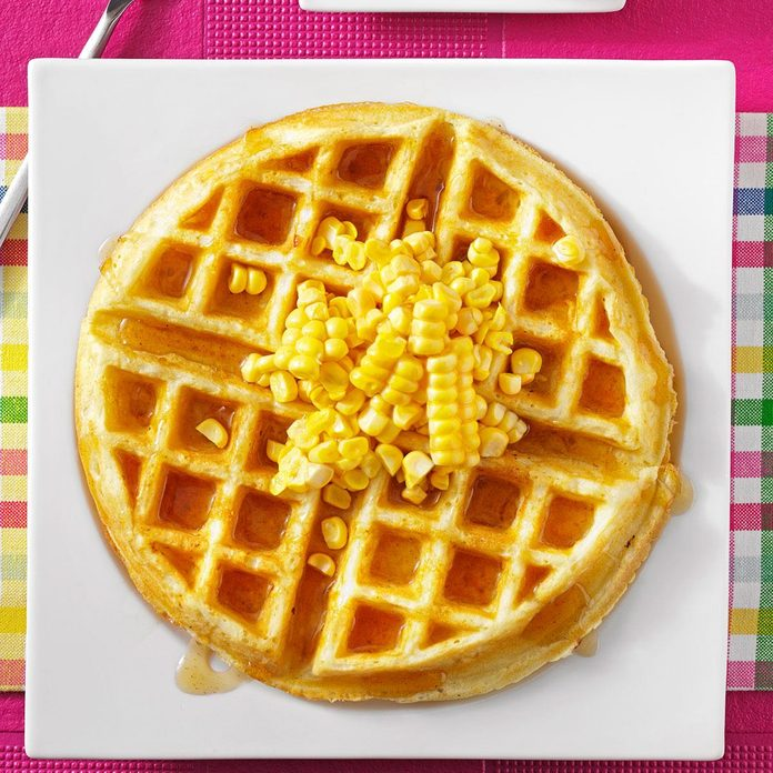 Corn Fritter Waffles With Spicy Maple Syrup Exps89903 Hc2847498b08 01 5bc Rms 2