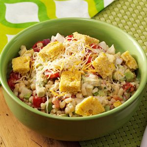 Corn Salad with Tamale Croutons