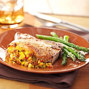 Corn-Stuffed Pork Chops