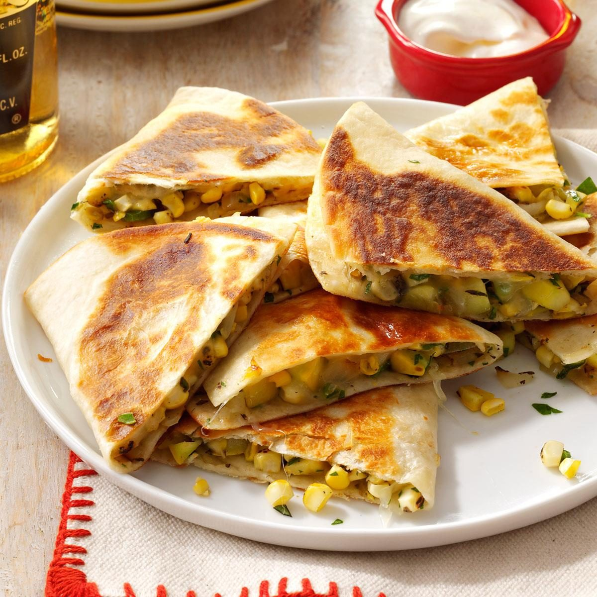 Corn 'n' Squash Quesadillas