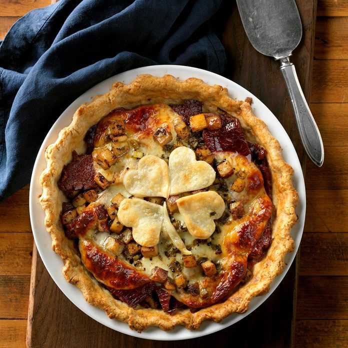 Corned Beef Hash Rustic Pie
