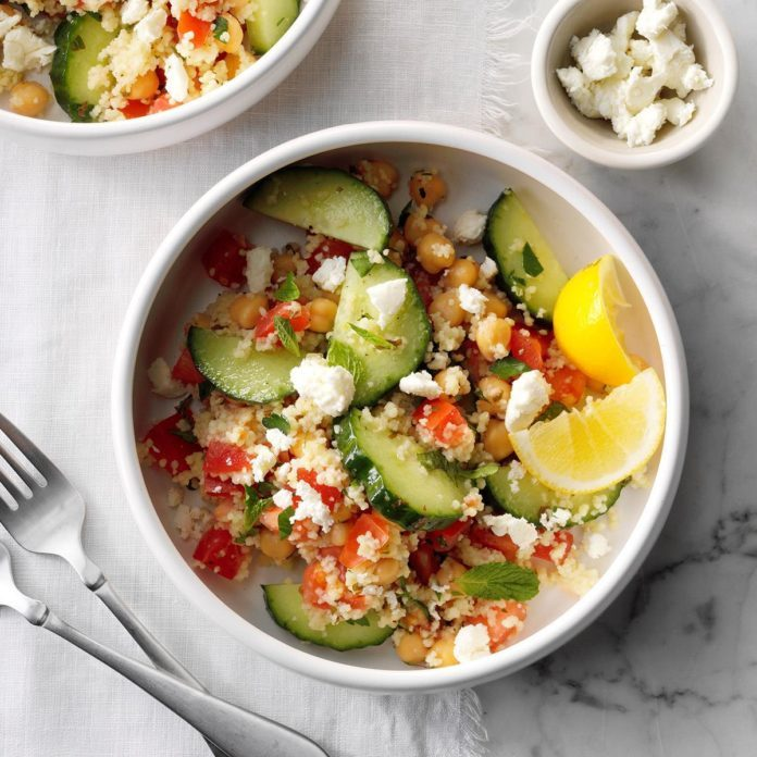 Day 25: Couscous Tabbouleh with Fresh Mint & Feta
