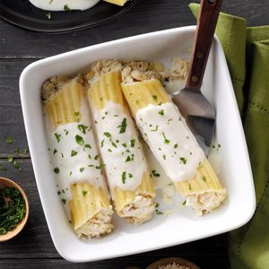 Crab-Stuffed Manicotti