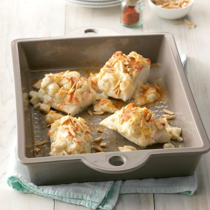 Crab-Topped Fish Fillets