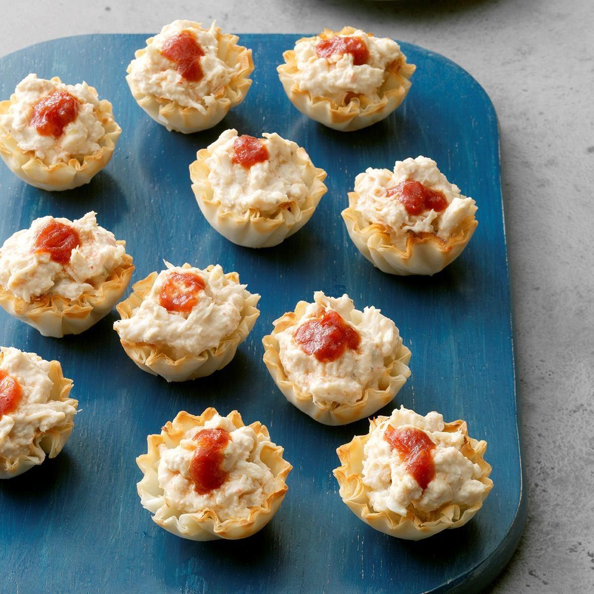 Homemade Wedding Reception Food: Crab Phyllo Cups Recipe
