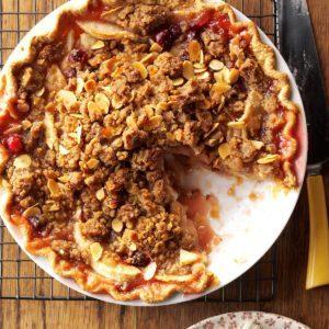 Cranberry-Almond Apple Pie