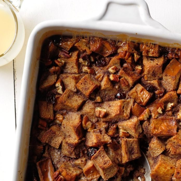 Cranberry Amaretto Bread Pudding