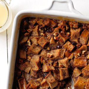 Cranberry Amaretto Bread Pudding