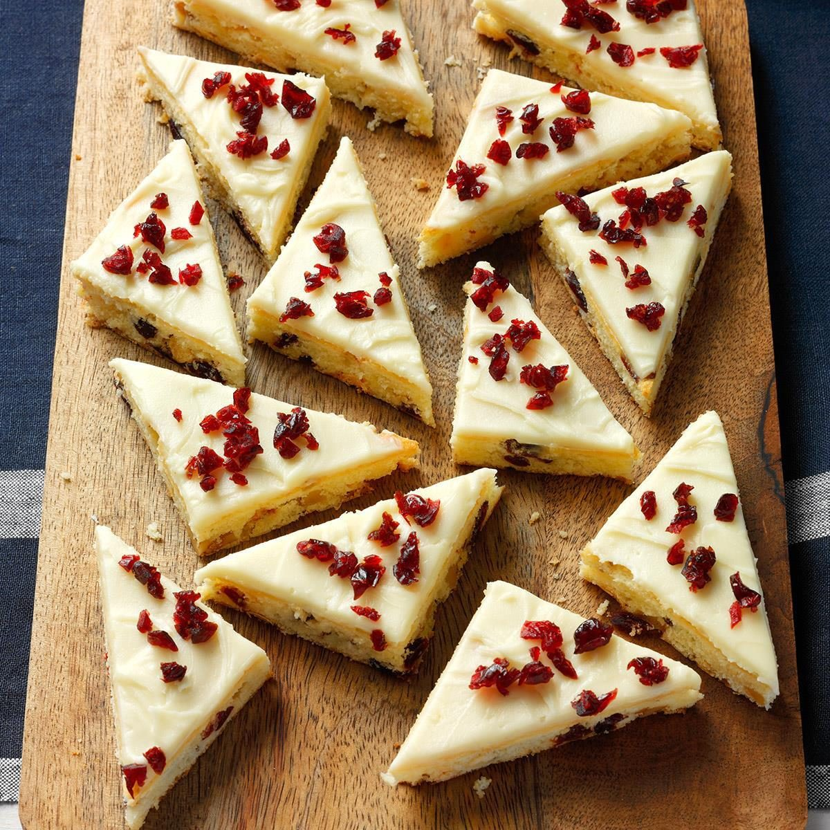 Cranberry Bars with Cream Cheese Frosting