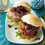Cranberry-Beef Mini Burgers