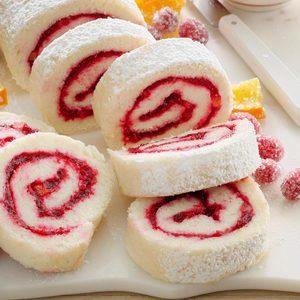 Cranberry Cake Roll