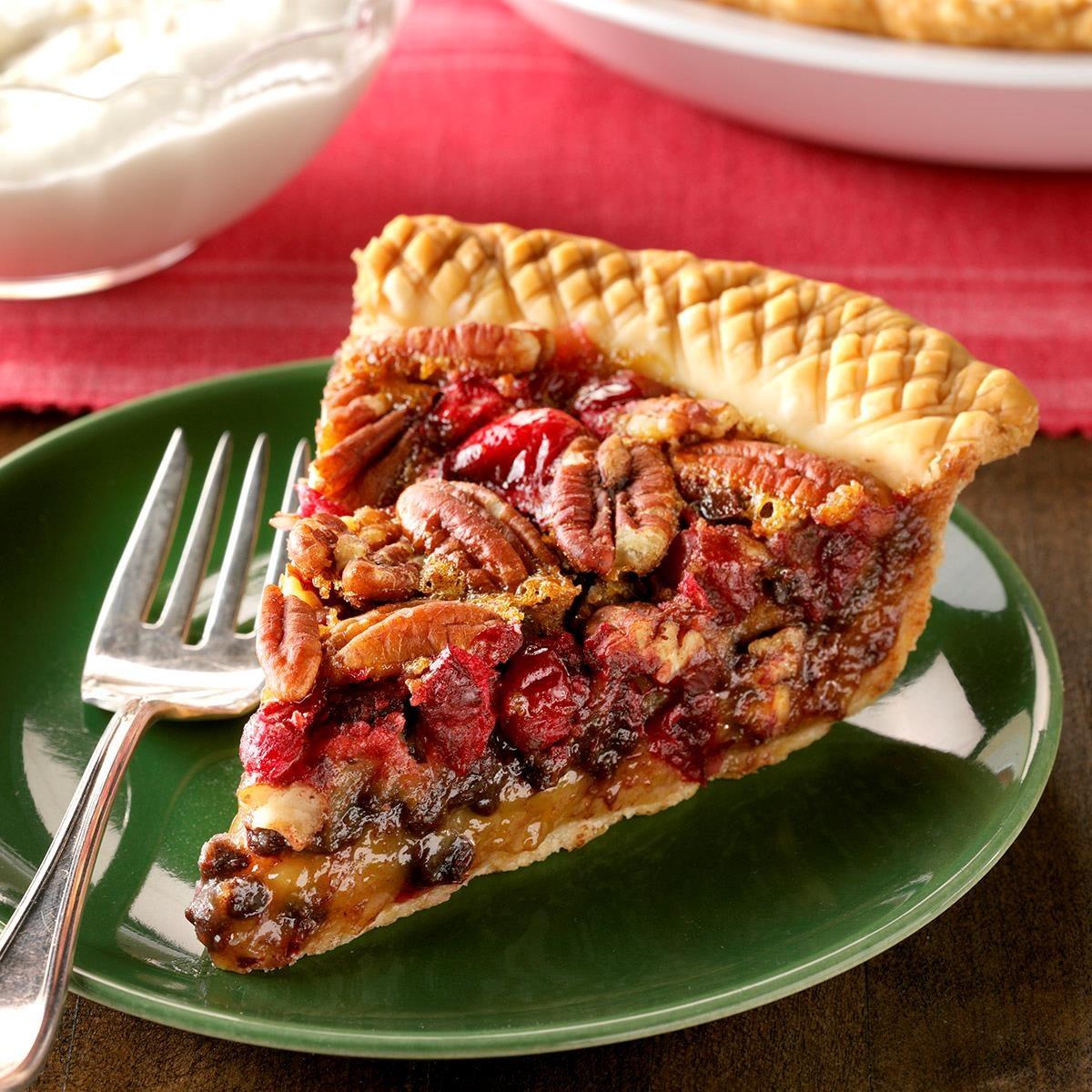 Cranberry Chocolate Chip Pecan Pie