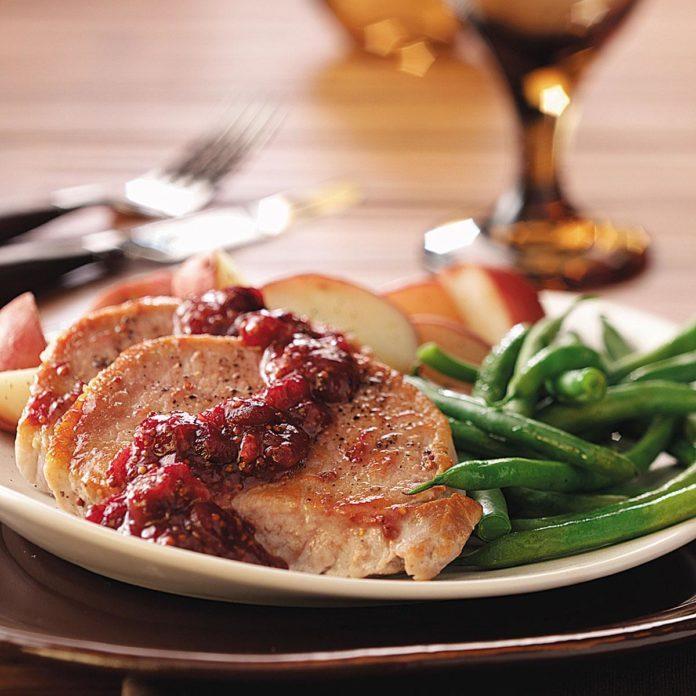 Cranberry-Kissed Pork Chops