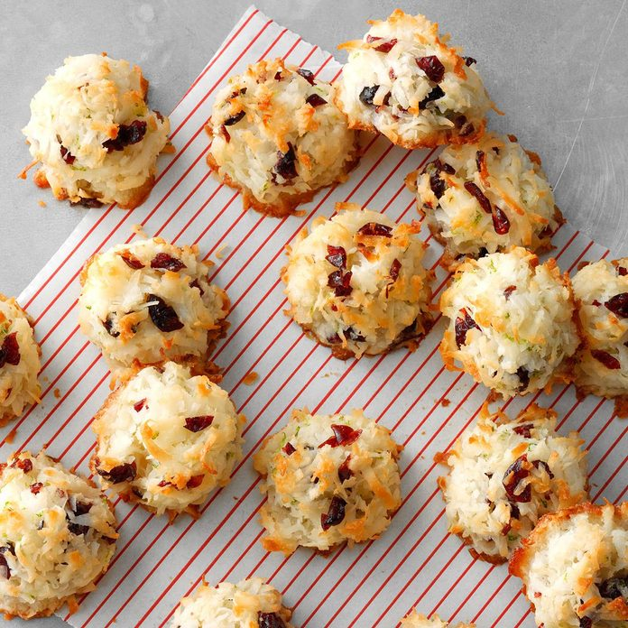 Cranberry Lime Macaroons