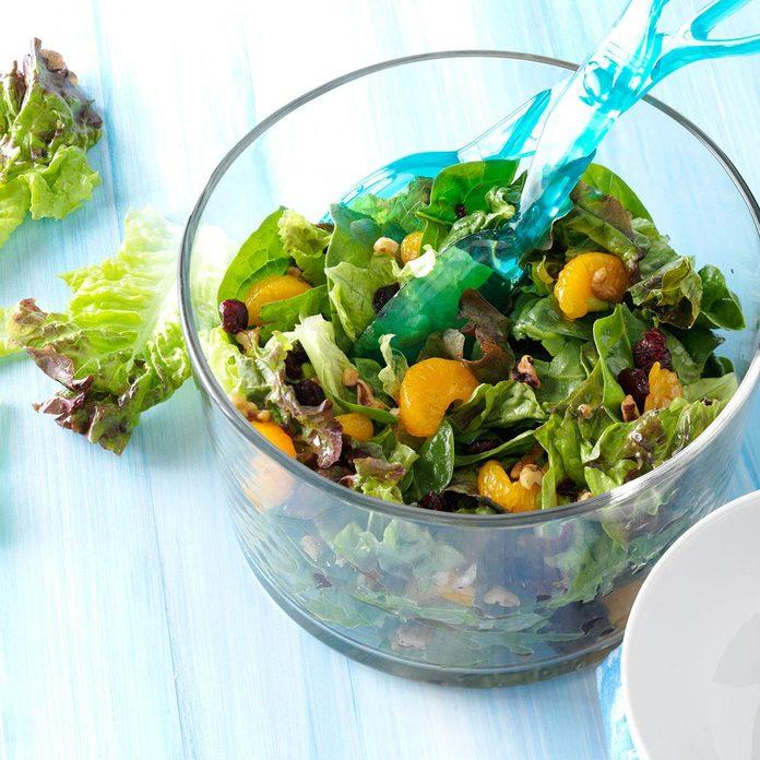 Cranberry Mandarin Salad with Walnut Vinaigrette