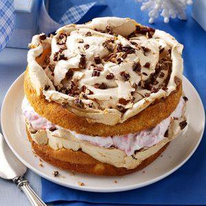 Cranberry Meringue Cake
