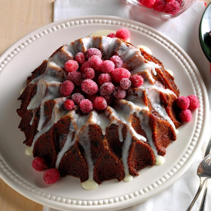 Cranberry-Orange Cake with Lemon Glaze