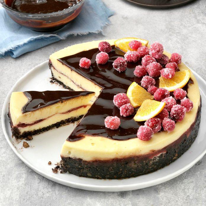 Cranberry Orange Cheesecake