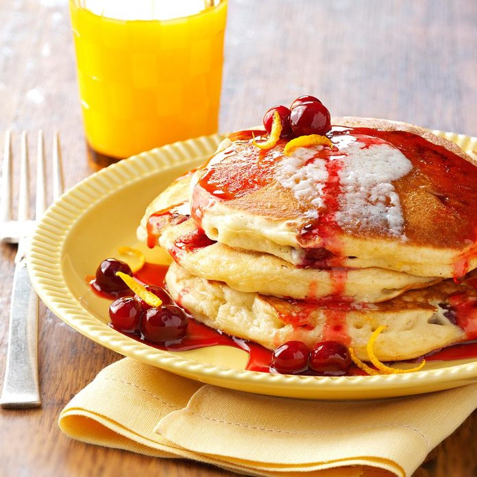 Inspired by: Cranberry Orange Pancakes