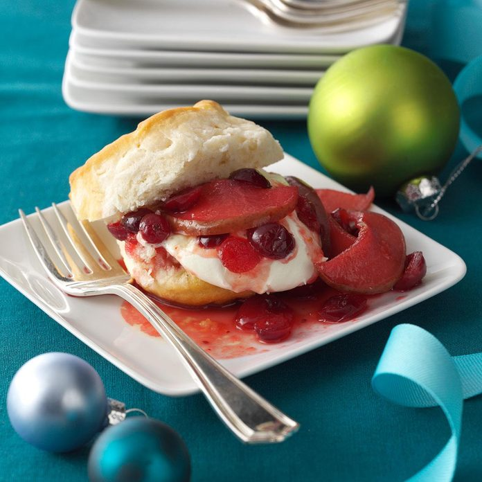 Cranberry-Pear Compote Shortcake