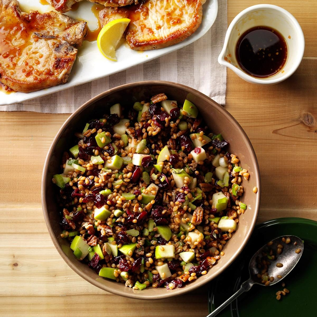 Day 5: Cranberry-Pecan Wheat Berry Salad