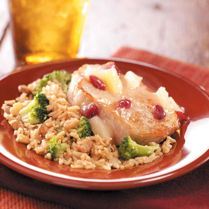 Cranberry-Pineapple Pork Chops