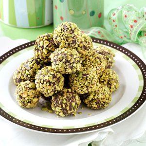 Cranberry-Pistachio Truffles