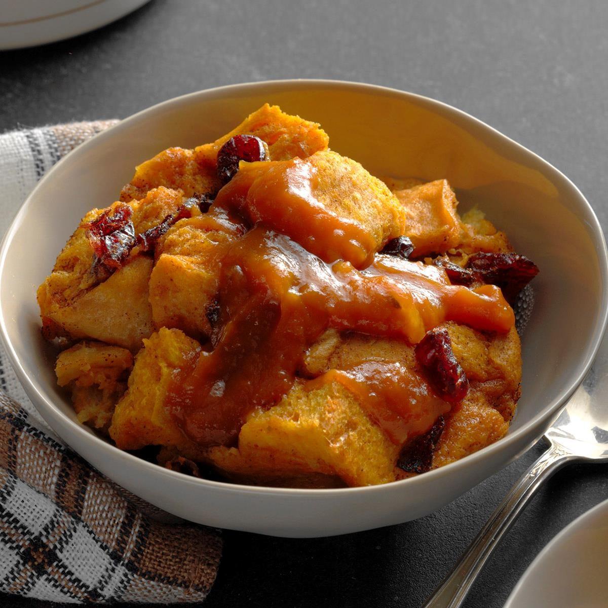 Cranberry-Pumpkin Bread Pudding