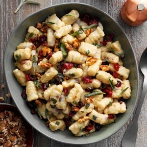 Cranberry Ricotta Gnocchi with Brown Butter Sauce