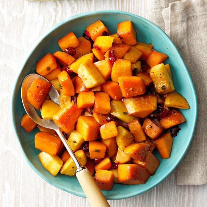 Cranberry roasted squash