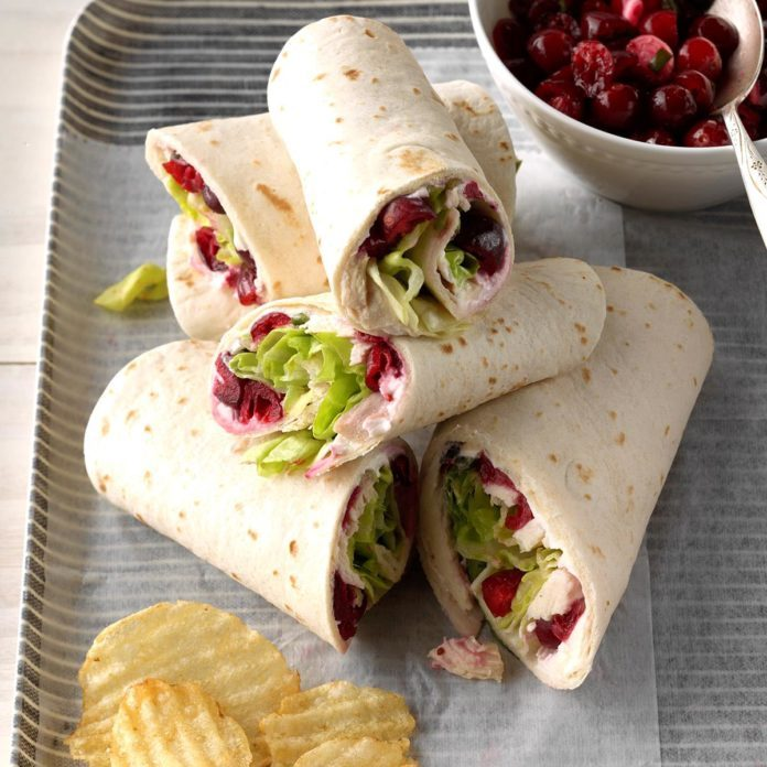 Cranberry Salsa Turkey Wraps