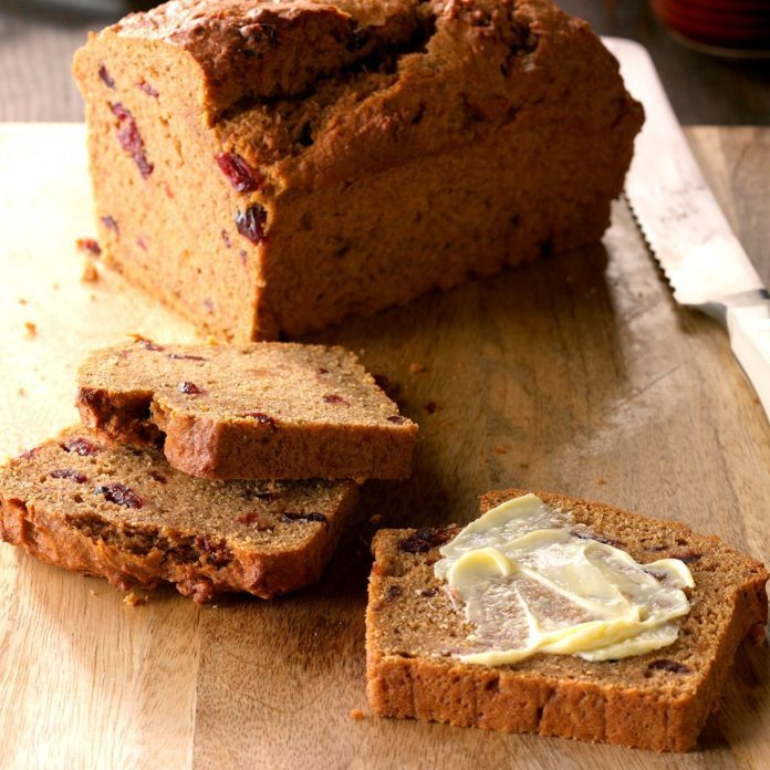 Cranberry Sweet Potato Bread Recipe | Taste of Home