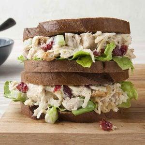 Cranberry-Walnut Chicken Salad Sandwiches