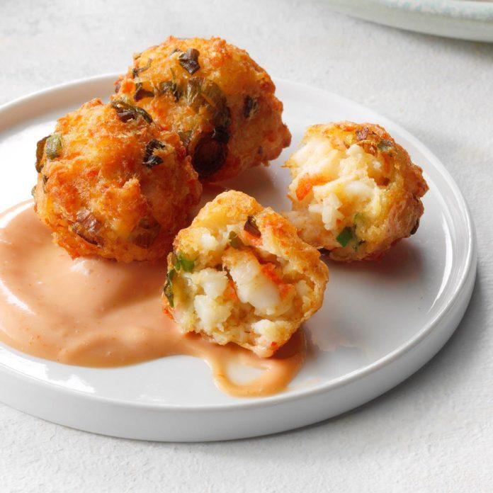 Crawfish Beignets with Cajun Dipping Sauce