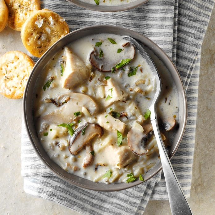 Cream of Turkey and Wild Rice Soup