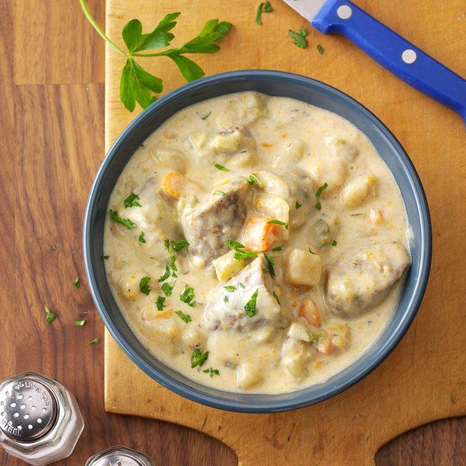 Creamy Bratwurst Stew