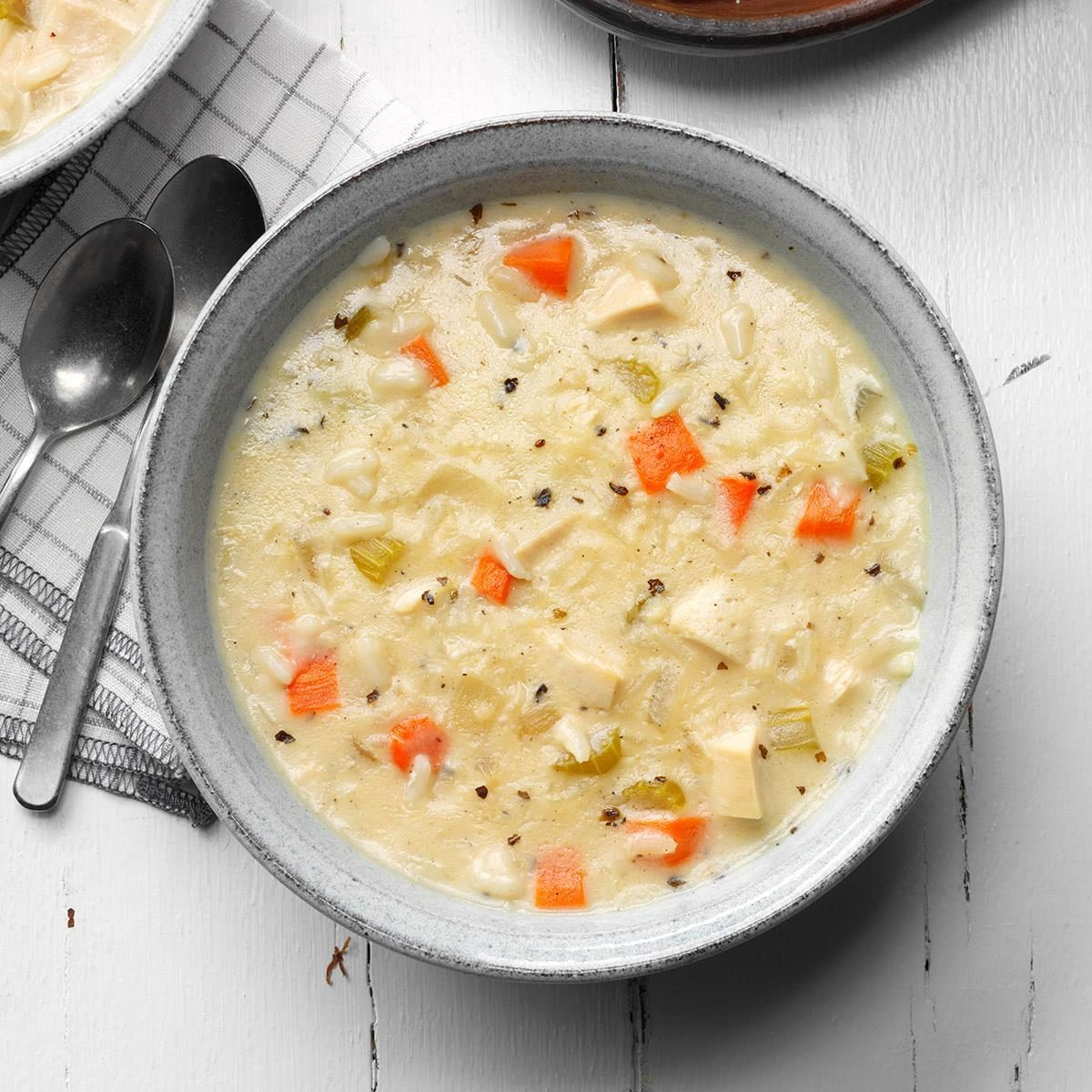Creamy Chicken Rice Soup