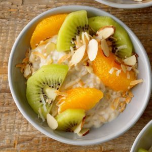 Creamy Coconut Rice Pudding Parfaits