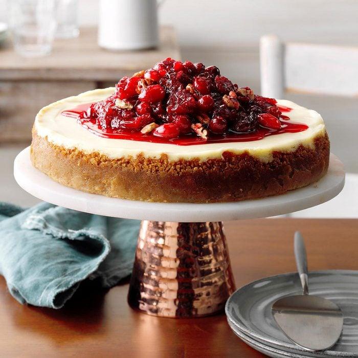 Creamy Cranberry Cheesecake