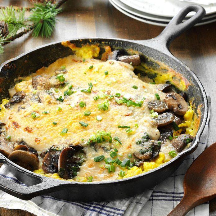 Creamy Eggs & Mushrooms Au Gratin