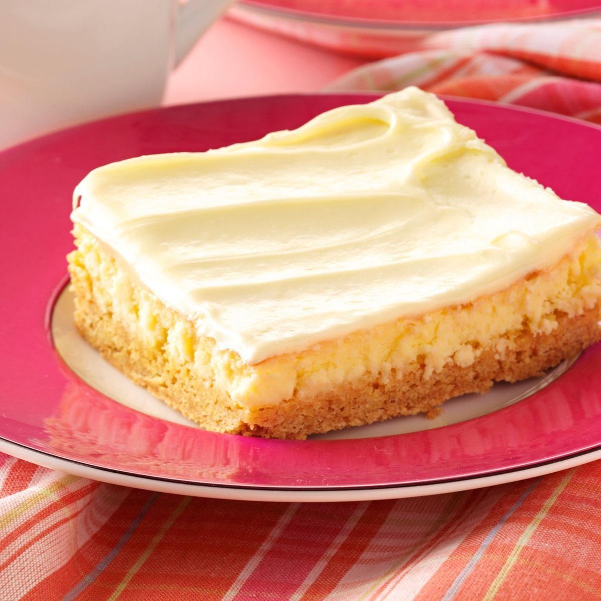 Creamy Lemon Cake Bars