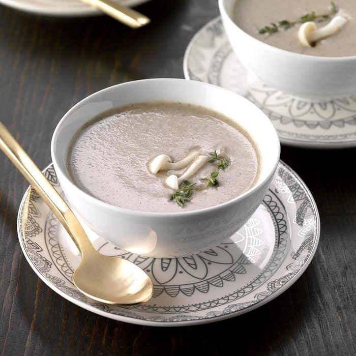 Creamy Mushroom-Thyme Soup